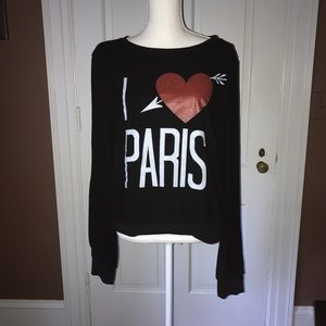 Wildfox Black I ❤️Paris Size L